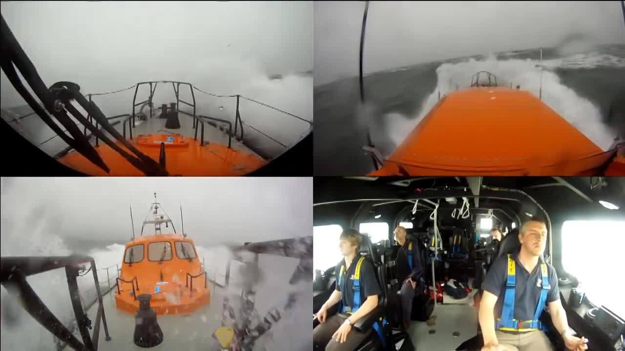 HeavySeas, heavyseas, RNLI Shannon class boat on sea trials. (reddit) GIFs