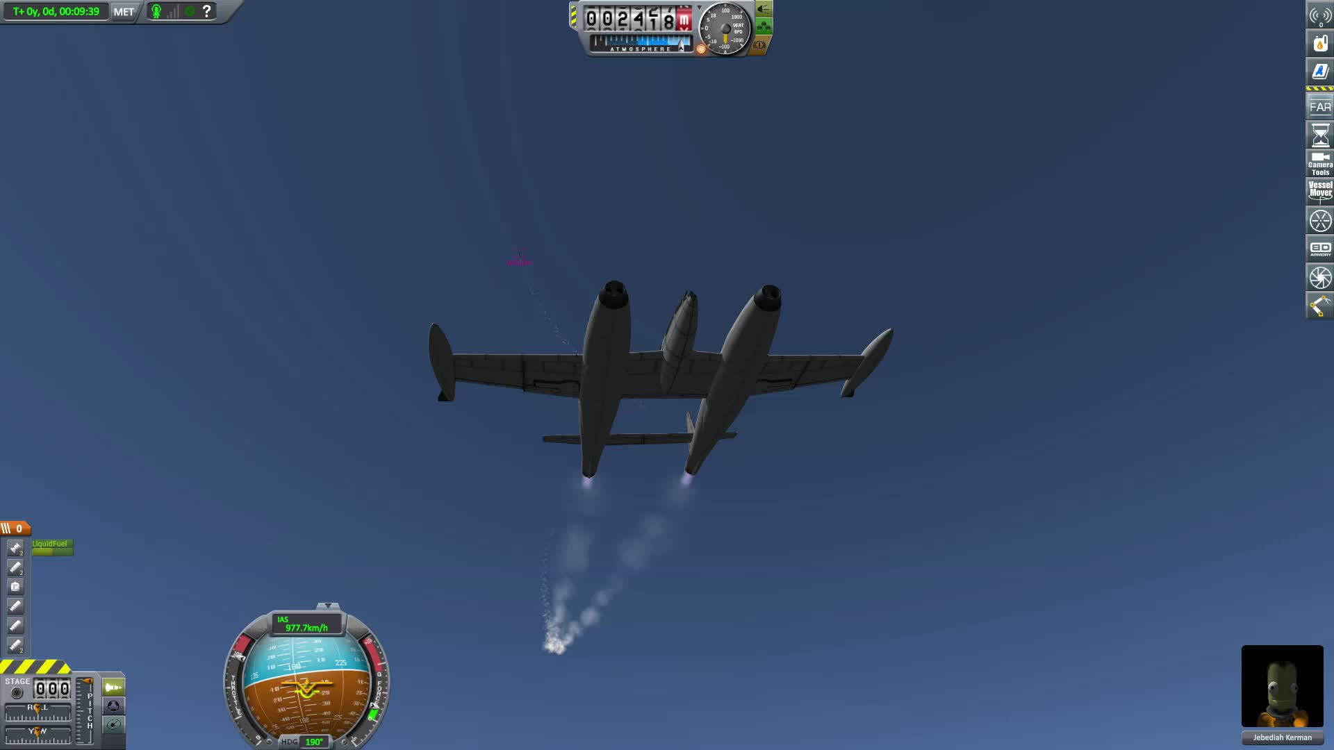 BDArmoury, Dogfight, KSP, Kerbal Space Program, Turbo Lightning vs La-200 GIFs