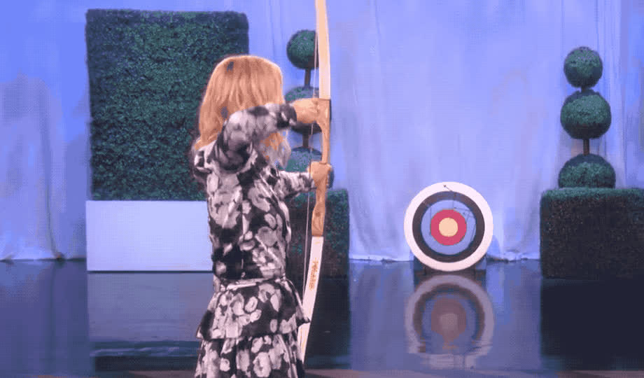 archery, charlize, disappointed, ellen, god, how, is, it, mad, mouth, my, no, oh, omg, open, possible, show, skills, theron, way, Charlize Theron is disappointed GIFs