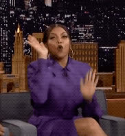 celebrate, excited, party, raise the roof, taraji p henson, the tonight show, yas, yay, yes, Taraji P. Henson Excited GIFs