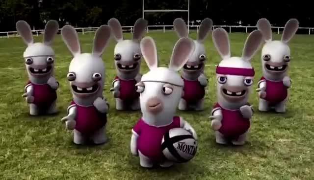 rabbids, raving, rayman, rugby, ubisoft, rabbits GIFs