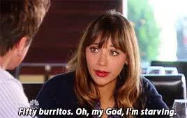 Watch and share Rashida Jones GIFs and Burrito GIFs on Gfycat
