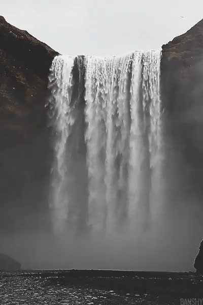 Watch Iceland Waterfall  GIF on Gfycat. Discover more Gif, Iceland, Landscape, Myuploads, Nature, Travel, Water, Waterfall GIFs on Gfycat