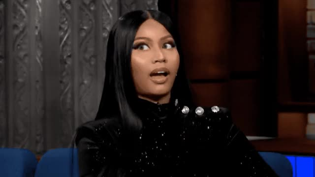Watch this curated GIF by GIF Queen (@ioanna) on Gfycat. Discover more album, colbert, confused, dizzy, drunk, dumb, eye, eyeroll, high, minaj, new, nicki, night, open, queen, roll, show, silly, stephen, think GIFs on Gfycat