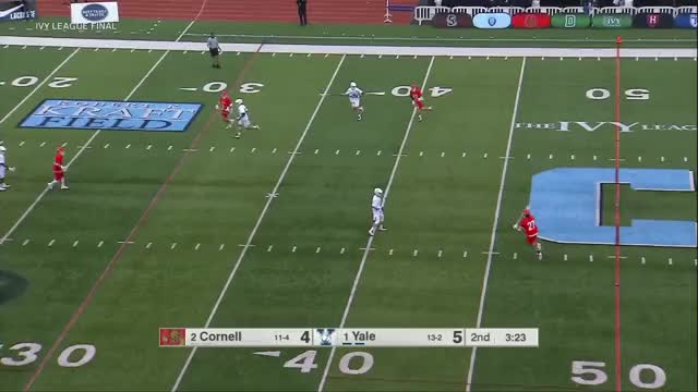 Watch Teat Off Ball Feeds vs Yale GIF by Lacrosse Film Room (@laxfilmroom) on Gfycat. Discover more Cornell, Jeff Teat, football, lacrosse GIFs on Gfycat