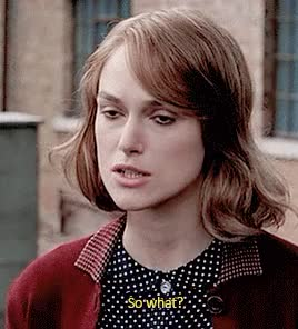 Watch this keira knightley GIF on Gfycat. Discover more keira knightley, so what, what GIFs on Gfycat