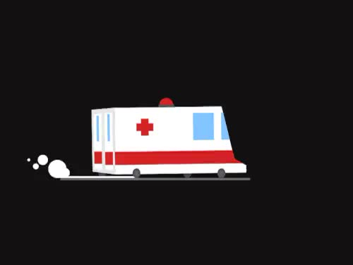 Watch Ambulance - Anidays 105 GIF on Gfycat. Discover more 2d animation, 2d illustration, after effects, ambulance, anidays, animated gif, gif, loop animation GIFs on Gfycat