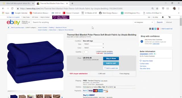 Watch and share Thermal Bed Blanket Polar Fleece Soft Brush Fabric By Utopia Bedding EBay - Google Chrome 2019-02-05 17-48-22 GIFs on Gfycat