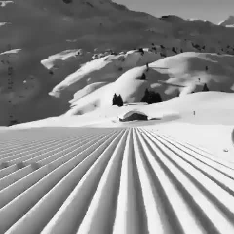 Skiing down a perfectly groomed slope GIFs