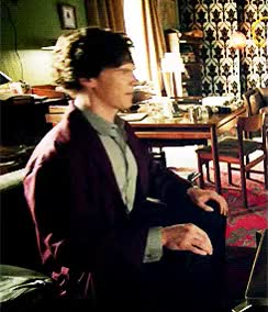 Watch and share Sherlock Wearing: The Burgundy Dressing Gown GIFs on Gfycat