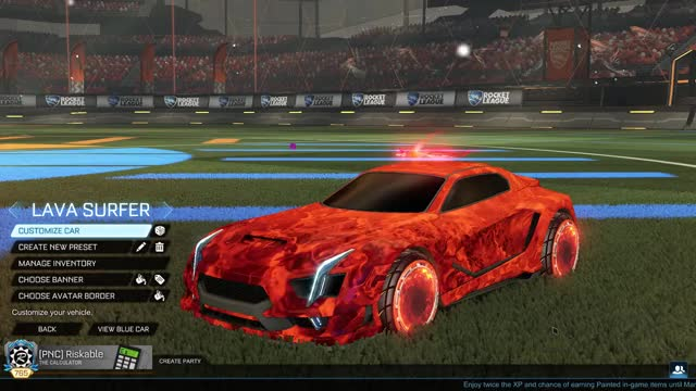 Watch Lava Surfer Car GIF by Riskable (@riskable) on Gfycat. Discover more Fashion League, Rocket League GIFs on Gfycat
