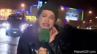 Watch News reporter gets hit by stop sign GIF on Gfycat. Discover more related GIFs on Gfycat