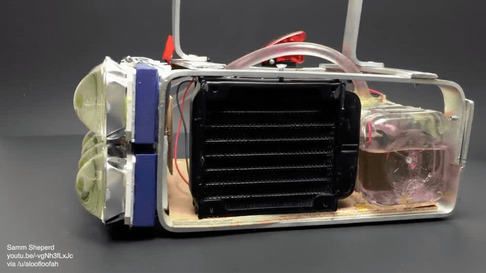 Water cooled LED flashlight GIFs