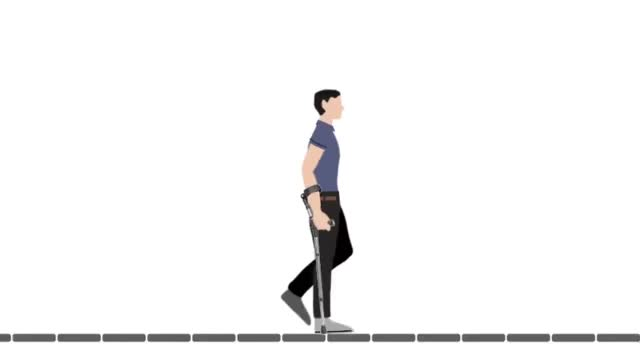 Watch and share Swing-to (or Step-to) Gait On Forearm Crutches GIFs on Gfycat