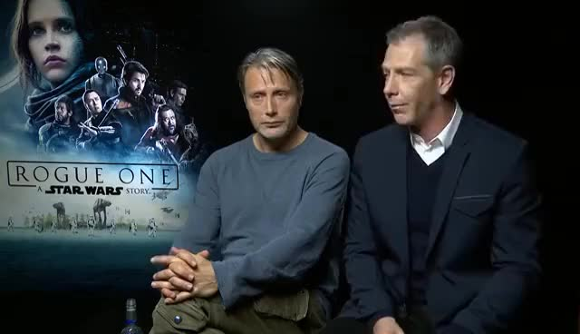 Watch Mads Mikkelsen & Ben Mendelsohn Interview ROGUE ONE - drunk in Iceland - funny story GIF on Gfycat. Discover more related GIFs on Gfycat
