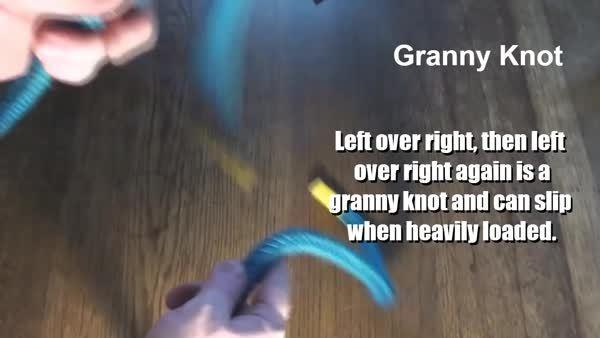 educationalgifs, Granny knot v square knot (reddit) GIFs