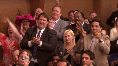 applause, clap, clapping, respect, slow clap, the office, The Office Applause GIFs