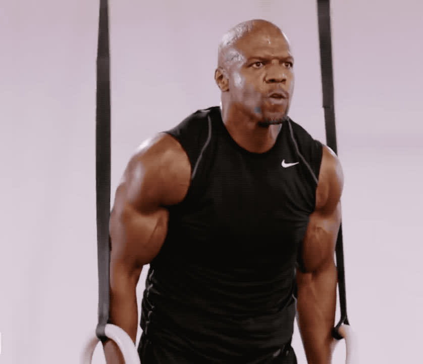 arms, conan, crews, fit, god, hart, kevin, loud, muscles, my, oh, omg, out, power, powerful, scream, strong, terry, work, work out, Terry Crews is strong GIFs