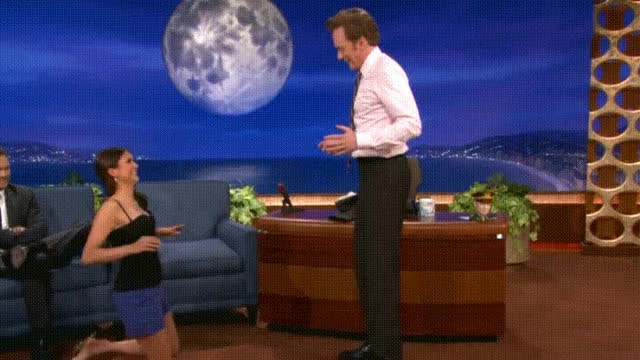 Watch and share Nina Dobrev Uses Conan As Her Yoga Wall. GIFs on Gfycat