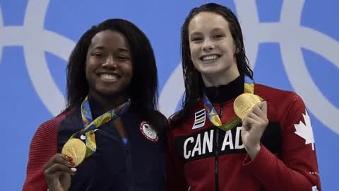 Watch and share Penny Oleksiak Animated Gif Winning Gold Medal GIFs on Gfycat