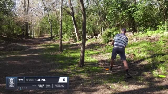 Watch Round One 2019 Waco Annual Charity Open - Jeremy Koling hole 9 approach GIF by Benn Wineka UWDG (@bennwineka) on Gfycat. Discover more Sports, dgpt, disc golf, disc golf pro tour GIFs on Gfycat