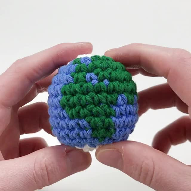 Watch and share Crocheted Planet Earth Amigurumi GIFs by Louie's Loops on Gfycat