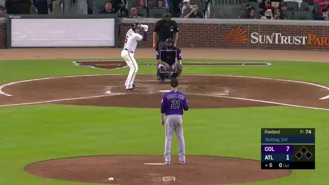 Watch 2018 GIF on Gfycat. Discover more Atlanta Braves, Colorado Rockies, baseball GIFs on Gfycat