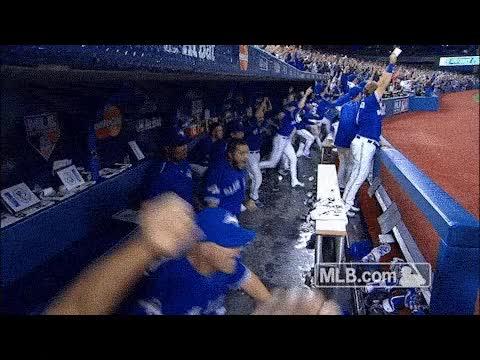 Watch and share Blue Jays, Jays, Baseball, Toronto, Alcs GIFs on Gfycat