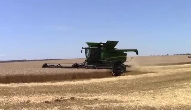 Watch Wheat Harvest 2016:  400 bu John Deere S690 Combines GIF on Gfycat. Discover more related GIFs on Gfycat