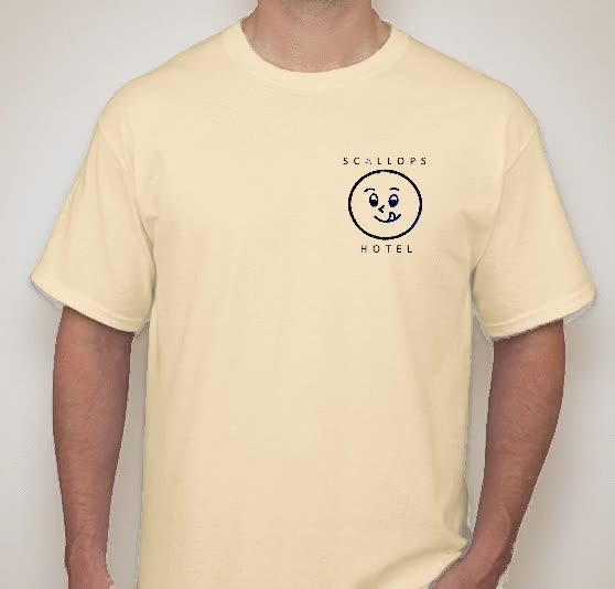 Watch and share SCALLOPS HOTEL CUSTODIAL ISSUE TSHIRT GIFs on Gfycat