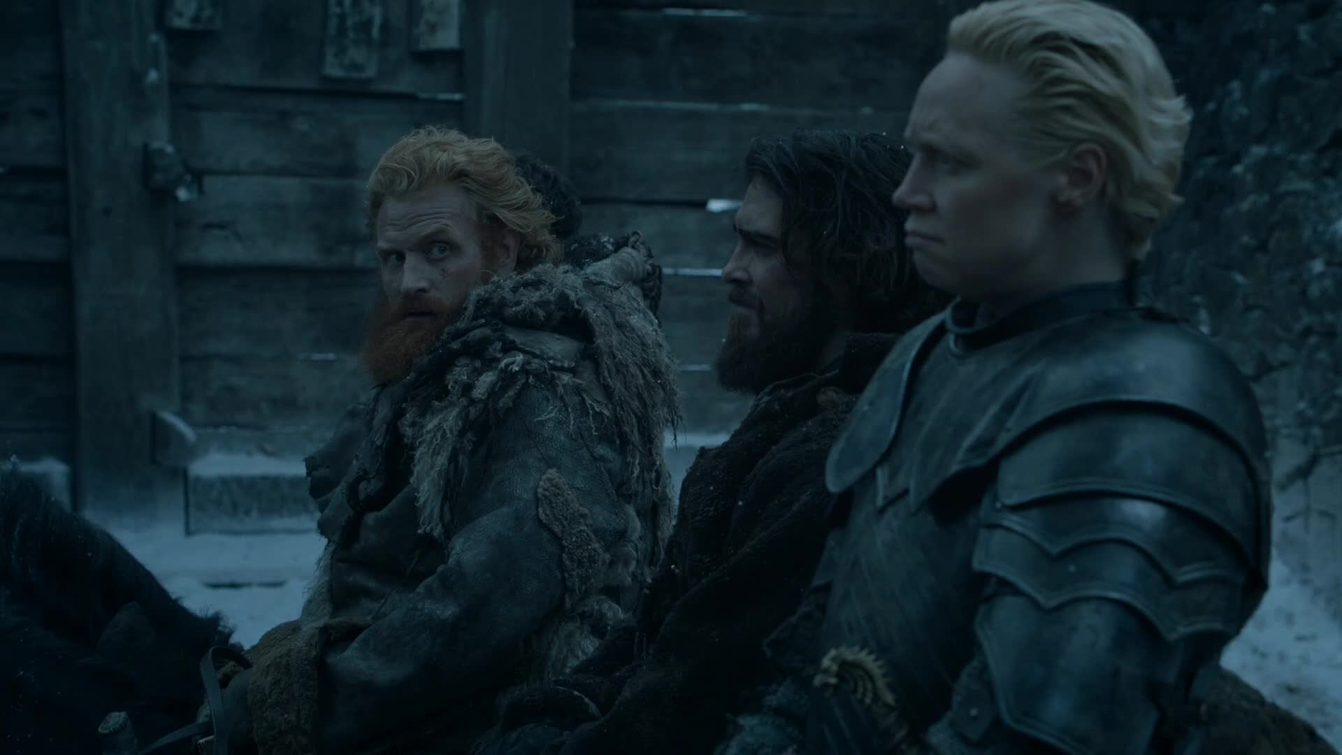 Brienne, Christie, Door, Game, Gwendoline, S06E05, Tarth, Thrones, celebs, ew, gwendoline christie, kristofer hivju, of, sigh, ugh, Brienne of Tarth ugh GIFs