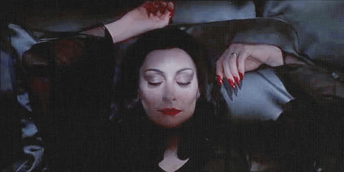 Anjelica Huston, addams family, awake, good morning, halloween, happy, morticia, waking up, world goth day, Morticia Waking GIFs