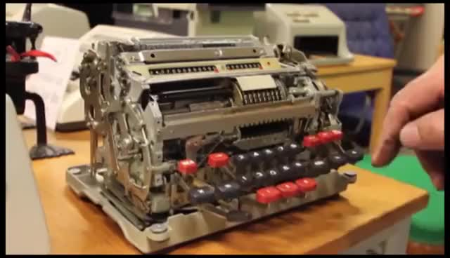 Watch and share Mechanical Calculator 1 GIFs on Gfycat