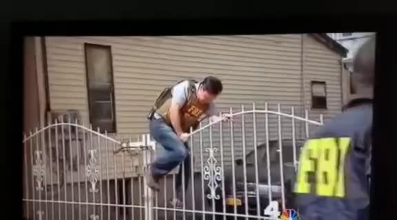 Watch fbi fence jump fail GIF on Gfycat. Discover more fbi fence jump fail GIFs on Gfycat