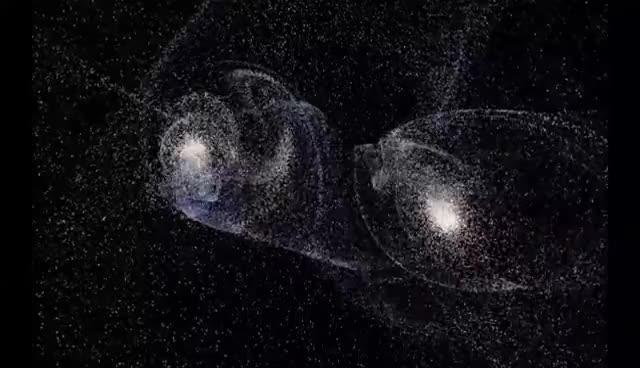 Universe Sandbox - Столкновение галактик GIFs