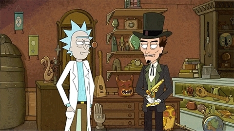 rickandmorty, Evil laugh duel (reddit) GIFs