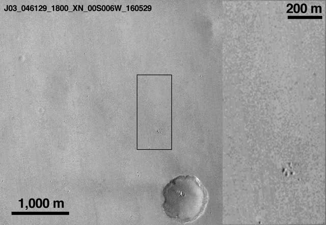 Watch Mars Reconnaissance Orbiter view of Schiaparelli landing site large GIF on Gfycat. Discover more related GIFs on Gfycat