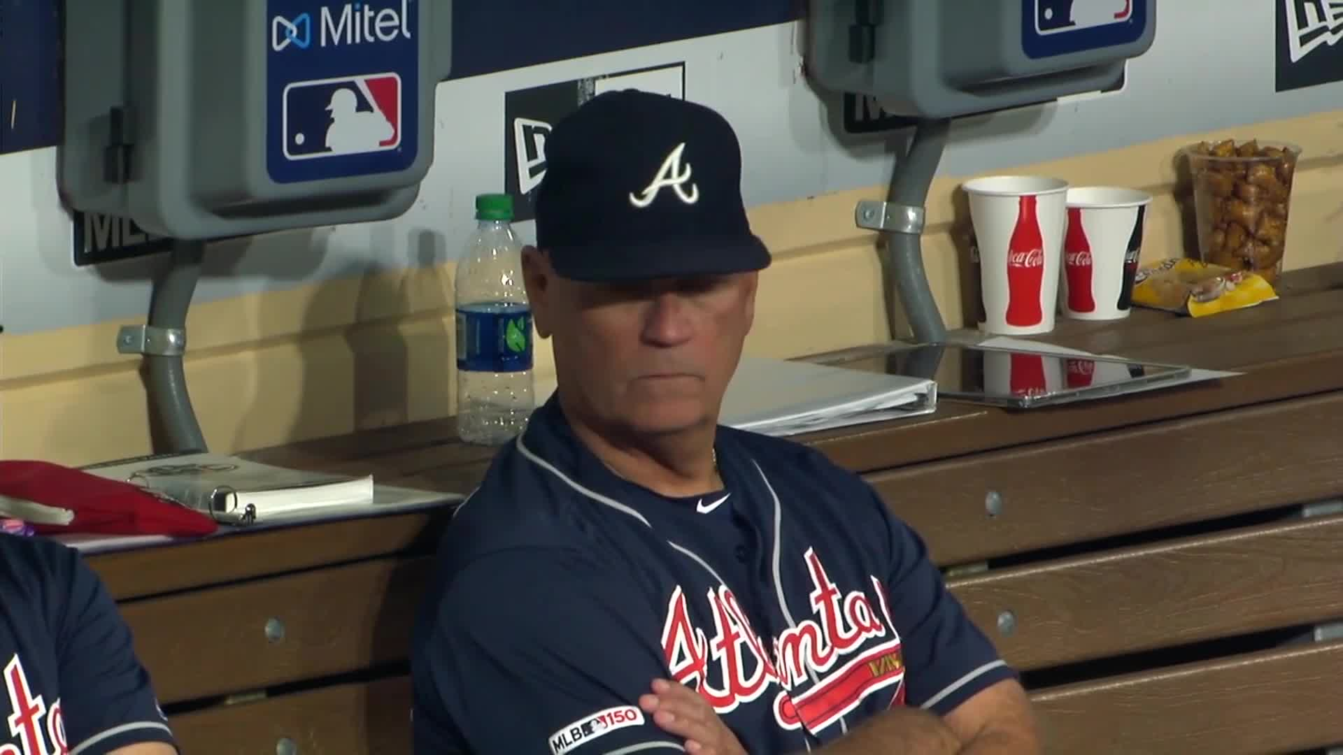 atlanta, baseball, braves, Snitker saying what and making funny face. GIFs