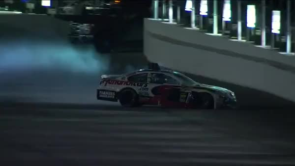 Watch and share Kasey Kahne Crashes Into The Wall | Coke Zero 400, Daytona 2013 (reddit) GIFs on Gfycat