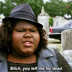 3x11, AHS Coven, American Horror Story, Coven, Gabourey Sidibe, Marie Laveau, Queenie, ahs, ahs coven, ahscoven, american horror story, coven, funny, gabourey sidibe, marie laveau, power, protect the coven, queenie, quotes, voodoo, witches,  GIFs