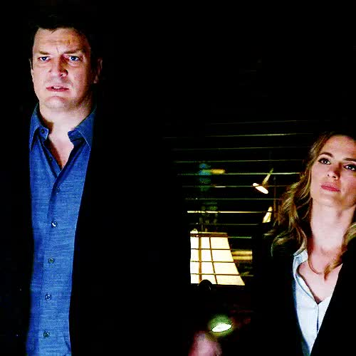 Watch and share Her Hand On His Arm GIFs and Nathan Fillion GIFs on Gfycat