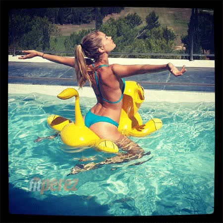 Watch and share Doutzen Kroes Pool Floatie Fall This One GIFs on Gfycat