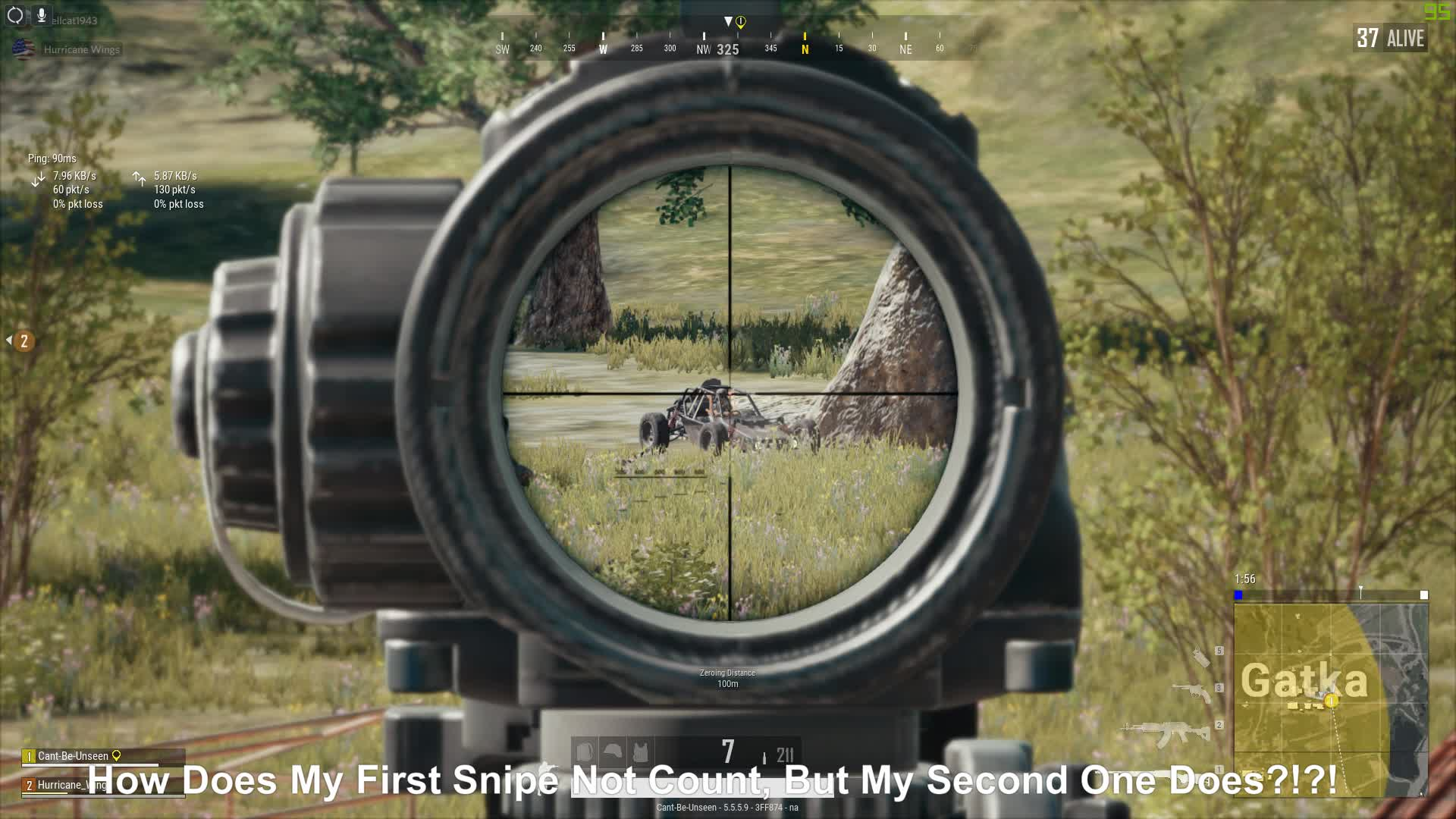 pubattlegrounds, pubg, How Does My First Snipe Not Count, But The Second One Does PUBG?!?!? GIFs