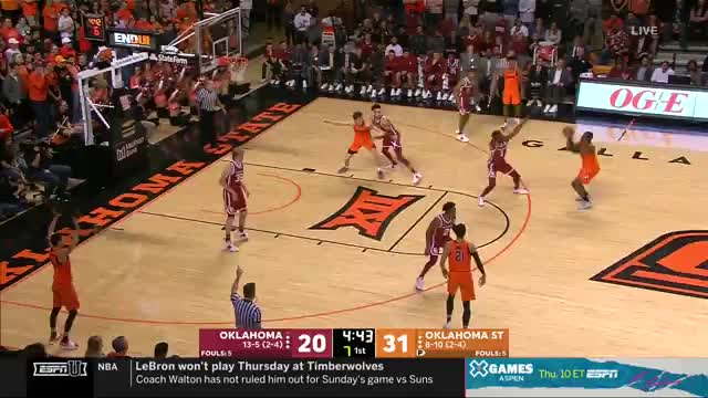 Phoenix Suns, basketball, mla313, College Basketball: Oklahoma at Oklahoma State | ESPN U | Clippit GIFs