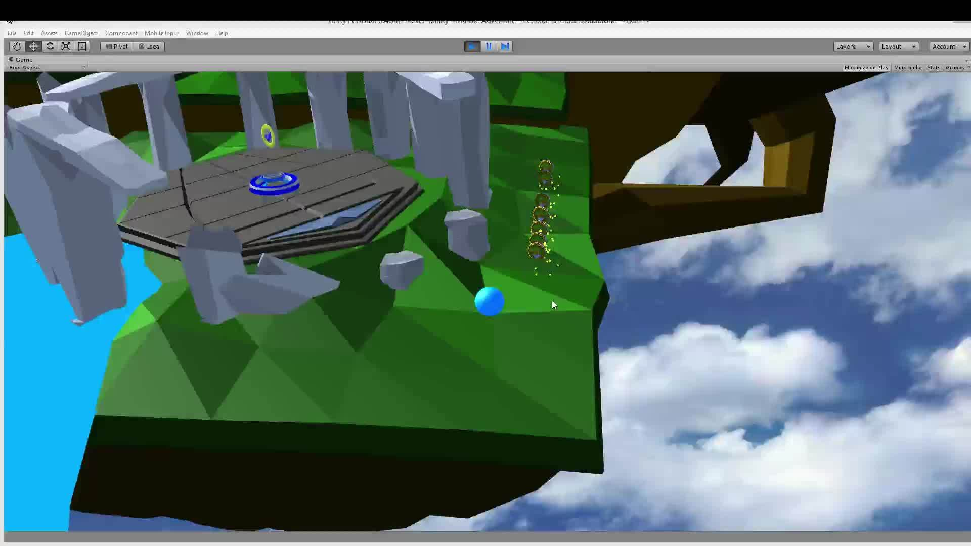 ▷ Learning with Roll-a-Ball: Made myself a nice little door using