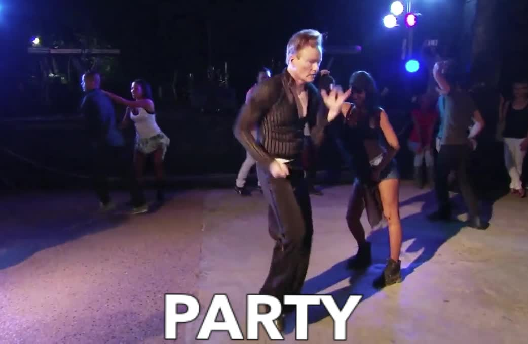 brien, celebrate, conan, conan obrien, dance, dancing, epic, excited, fun, funny, lol, o, party, rumba, sexy, viral, woohoo, yay, yeah, yoohoo, Party with Conan GIFs