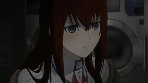 blushing, makise kurisu, steins gate, embarrassed christina GIFs