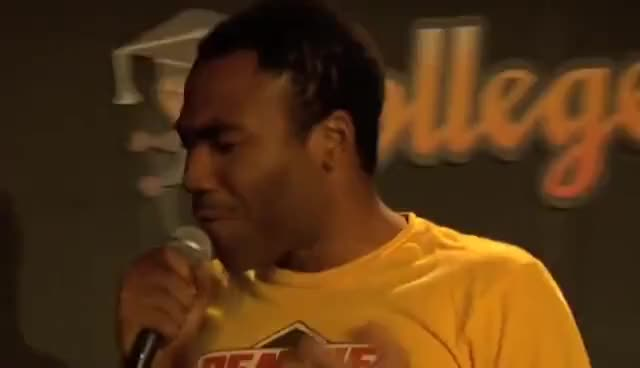 Watch this trending GIF on Gfycat. Discover more donald glover, stand up GIFs on Gfycat
