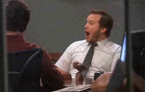 Watch Andy Dwyer Shocked GIF on Gfycat. Discover more chris pratt GIFs on Gfycat