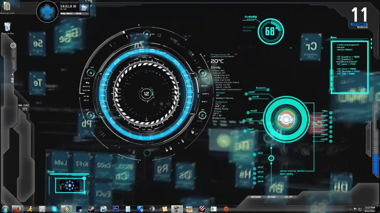 Iron Man Jarvis 1 0 Animated Background Desktop